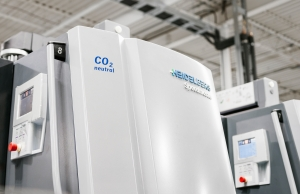 Carbon Neutral Printing Press at Hemlock Printers